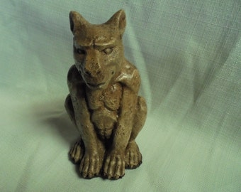 Stone Gargoyle with rubber bottom, Shipping Included, Paperweight, Decor, Handmade in USA