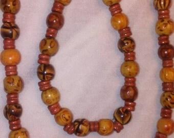 African bead necklace & bracelet set