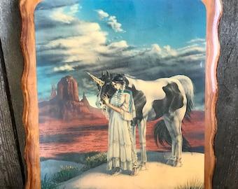 Vintage Native American Unicorn Decor