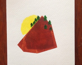 Mountain Gem! Hand-painted blank greeting card.