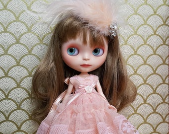 Coral Pink Tulle and Lace Maxi Blythe Dress and Crinoline Set | Pullip Dress