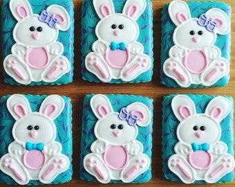 Easter Bunny Cookies, Cute Bunny Rabbits, Bunny Cookies (1 Dozen)