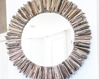 "Multi Layered 35"" Driftwood Mirror"