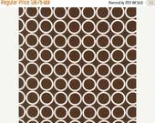 SHOP CLOSING SALE Fabric by the yard Robert Kaufman Metro Living Circles in Chocolate 1 yard