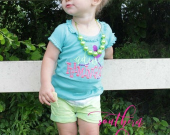 Adios Flamingos - Summer Applique Design - Girl's shirt - Flamingo shirt - Summer applique shirt