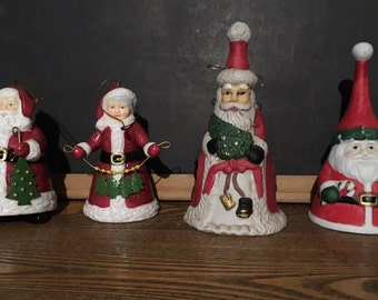 Vintage Christmas bells • vintage Santa bells • vintage bells