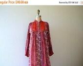 SALE 1970s Indian cotton dress . vintage 70s dress