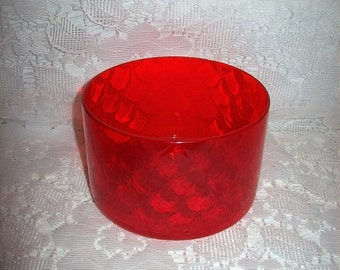 Vintage Tangerine Orange Persimmon Glass Candy Dish Bowl Only 7 USD