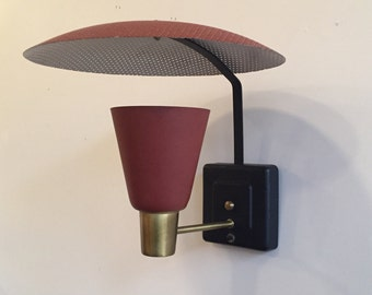 Mid Century Modern Metal Reflecting Wall Sconce