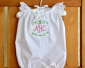 Baptism Christening personalized romper FREE monogram!