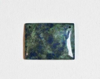 Blue Lapis & Green Malachite Pendant Bead