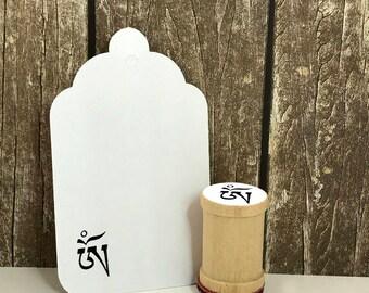 Tibetan OM Rubber Stamp