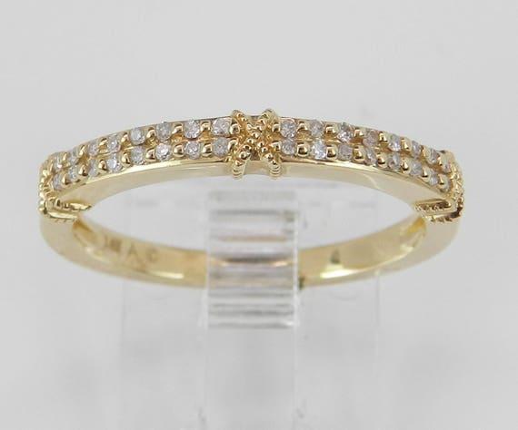 14K Yellow Gold Diamond Wedding Ring Anniversary Band Size 7