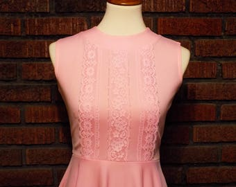 Vintage Cotton Candy Pink Sleeveless Dress Women's S / Size 4