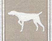 German Shorthaired Pointer - Embossed Design on Hand or Bath Towel