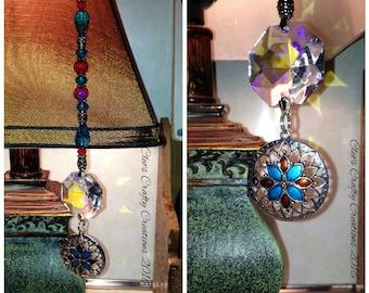 Mandala Charm Beaded Crystal Hanger