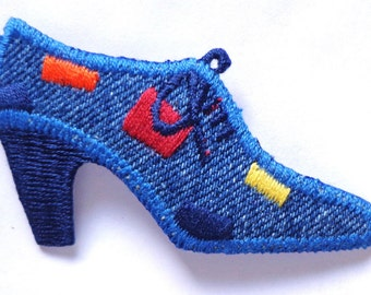 Iron On Patch Applique - Denim shoe