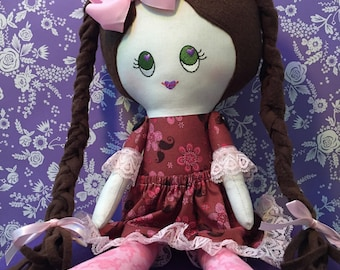 Doll, Cloth Doll, Rag Doll, Perfect Gift for Girls