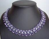 Pattern Louise necklace and bracelet, beading pattern, jewelry pattern, necklace pattern, miyuki pattern, pdf tutorail, jewelry tutorial