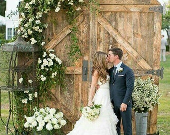 Barn Door Replica Rustic Backdrop Wedding Headboard Photography Party  By Foo Foo La La