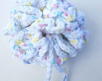 Crochet Large Scrubbie Shower Bath Spa Poof Washcloth Wash Cloth Dish Cloth Scrubby
