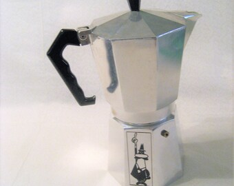 Bialetti 12 Cup Moka Express Stove Top Espresso Maker Vintage 1970s Made in Italy