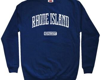 Rhode Island Represent Sweatshirt - Men S M L XL 2x 3x - Crewneck, Gift For Men, Her, Rhode Island Sweatshirt, Providence, Warwick, Cranston