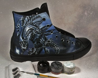 Example of Full painting converse, open in any design request, custom shoes converse