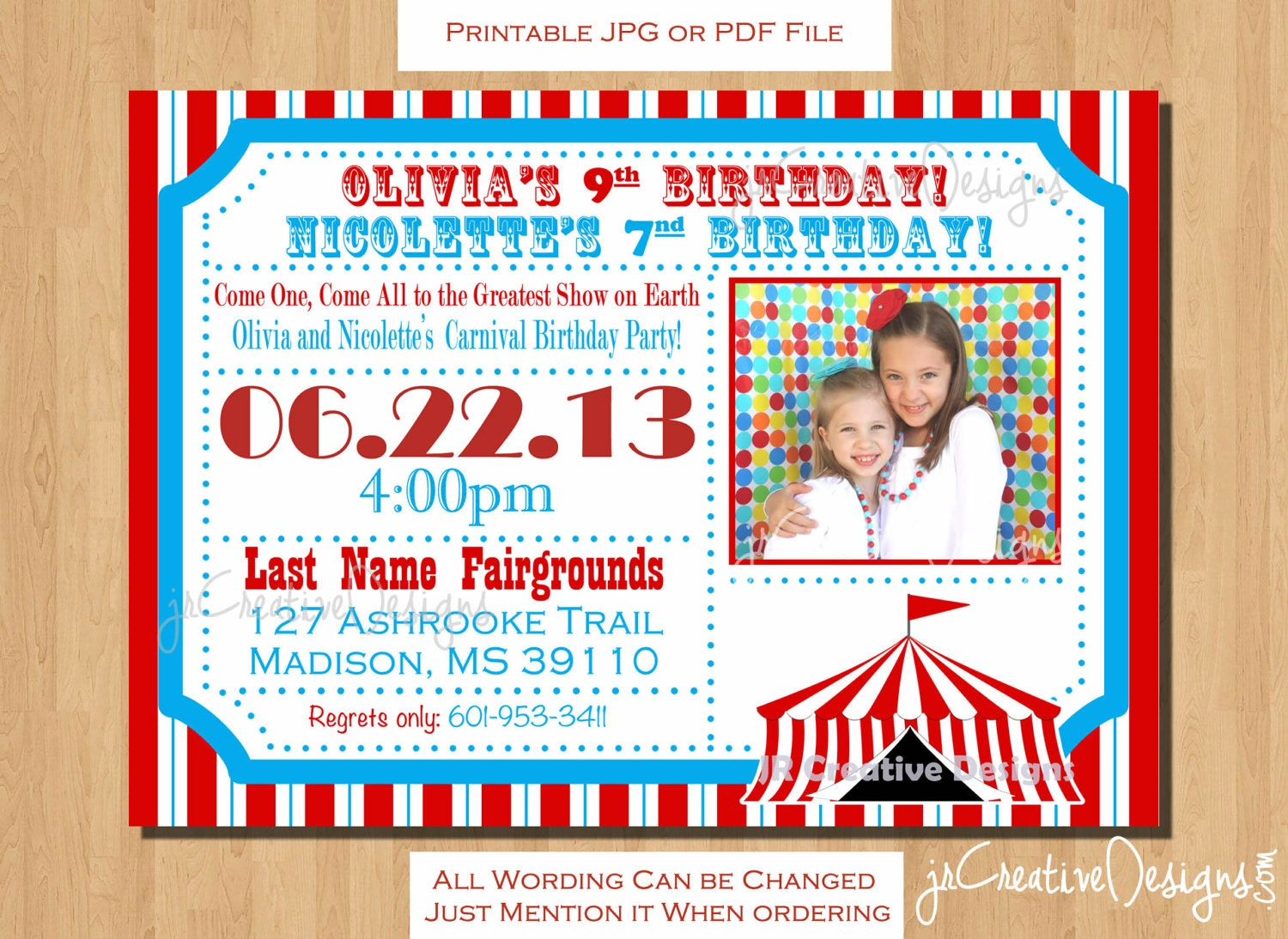 Carnival theme party – Carnival Themed Party Invitations