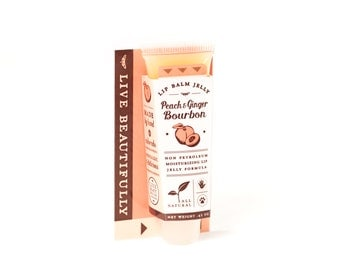 Peach Ginger Bourbon - All Natural - Lip Balm Jelly - Sweet, Spiked Southern Drink