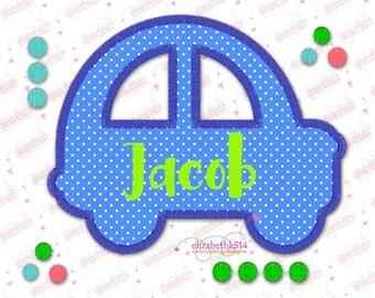 Instant download-163- Applique car -Machine embroidery applique design-