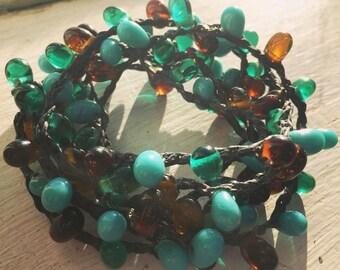 Boho Vibes:Versatile crocheted necklace / bracelet / belt / headband