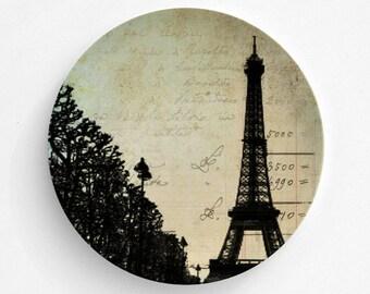Eiffel Tower Melamine Plate, Melamine Plate, Paris Eiffel Tower decor, decorative plate, Dinner Plate, Serving Plate