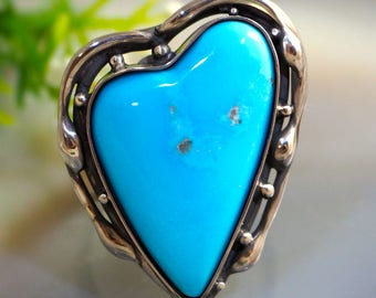 Turquoise Ring Blue Magic Ring Sterling Silver Jewelry