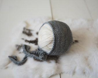 Studio Bonnet Long Knit Ties Newborn Photography Prop