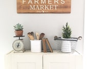 READY TO SHIP! Farmers Market. Michigan Raised. Customizable. Painted on barn wood.