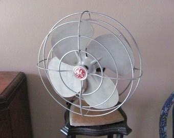 Vintage GENERAL ELECTRIC Table Top Fan Rusty Industrial Cool
