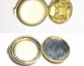 Vintage Estee Lauder Gold Lucidity Compact Mirror,  Metallic, Gold Tone, Mirror, Item M501