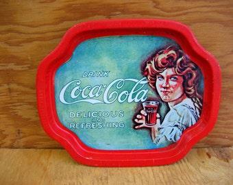 Vintage coca cola tray small