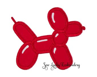 Balloon Dog  Applique Embroidered Patch , Sew or Iron on