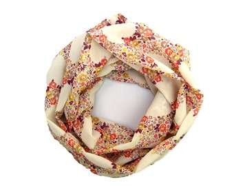 Children Scarf, Kids Floral Scarf, Toddler Scarf, Girl's Heart Scarf, Valentine Day Scarf, Infinity Scarf, Under 10 Dollars, Ready To Ship