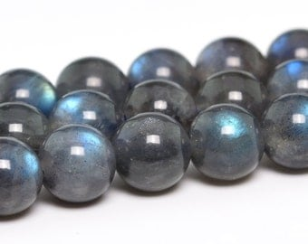 "6MM Labradorite Beads Madagascar Grade AA Genuine Natural Gemstone Full Strand Round Loose Beads 15"" BULK LOT 1,3,5,10 and 50 (101215-345)"