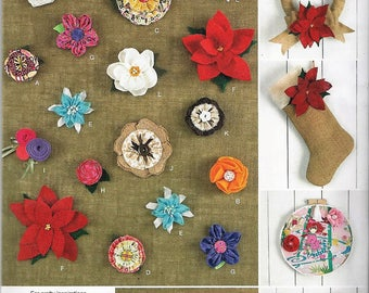 New Simplicity Andrea Schewe Pattern #1601 Fabric Flowers for Every Occasion or Holiday Uncut Factory Folded