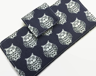 Credit Card Holder, 12 credit card Holder, Owl Card Holder, Card Holder, Small Card Holder
