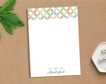 Notepad, Personalized Notepad, Custom Notepad, Paper, Stationery, Custom Stationery, Monogram, Kaleidoscope, Gift, Notes, Pad