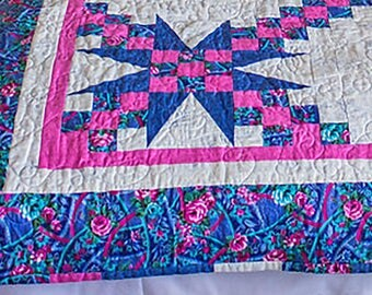 Pink/Blue Tiny Pink Squares-----------80x52 made with love cause is there any other way