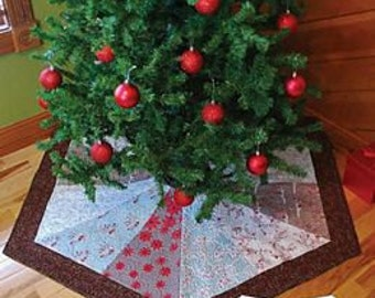 Tree Skirt Pattern, 3 Size Variation Hexagon Tree Skirt, Nite Before Christmas Collection Quilt Pattern
