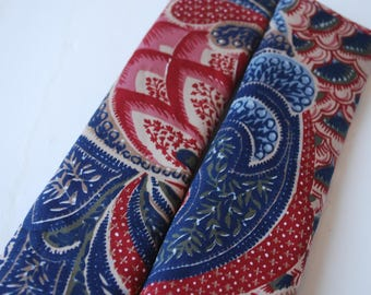 seatbelt covers car 1 pair Red Blue flowers