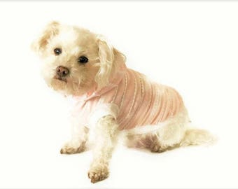 Blush Dog Hoodie-Blush Dog Shirt- Dog Clothes - Dog Shirt-Sleeveless Dog Hoodie-Dog Clothing -Dog Sweater-Clothes for Dogs - Dog Hoodies