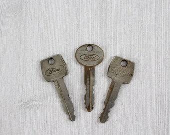 Vintage Ford Auto Keys - Automobile Keys for Repurpose